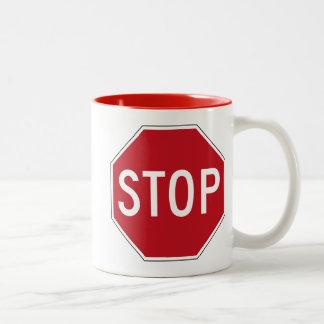 Signe d'arrêt des Etats-Unis Mug Bicolore