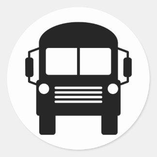 signe d'autobus scolaire sticker rond