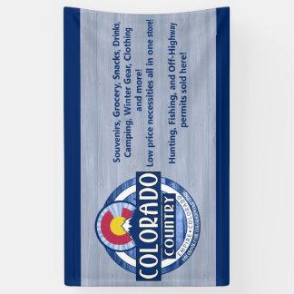 Signe de bannière de pays du Colorado