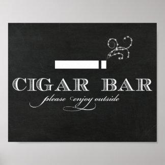 Signe de barre de cigare de tableau
