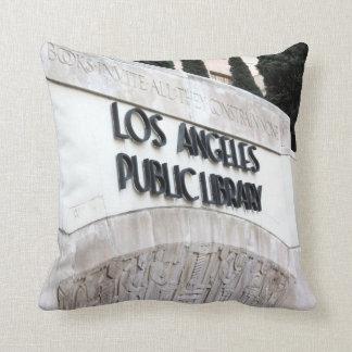 Signe de bibliothèque publique de Los Angeles Oreillers