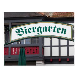 Signe de Biergarten, Allemagne Carte Postale