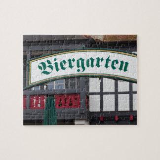 Signe de Biergarten, Allemagne Puzzle