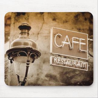 Signe de café de sépia, Paris, France Tapis De Souris