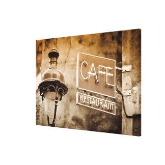 Signe de café de sépia, Paris, France Toile
