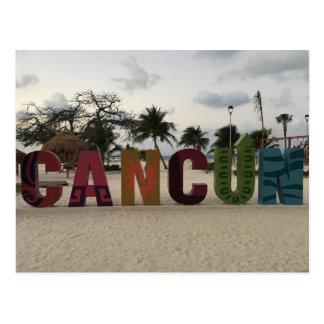 Signe de Cancun - Playa Delfines, carte postale du