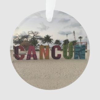 Signe de Cancun - Playa Delfines, ornement du