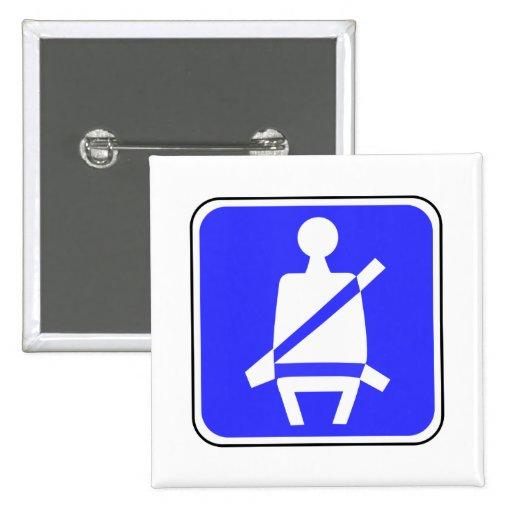 Signe de ceinture de sécurité badge