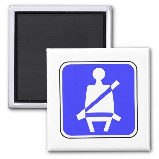Signe de ceinture de sécurité aimant
