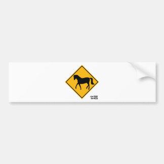 Signe de croisement de cheval autocollant pour voiture
