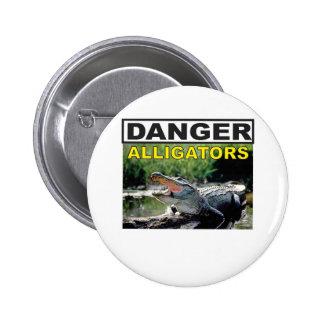 signe de danger d'alligator badges