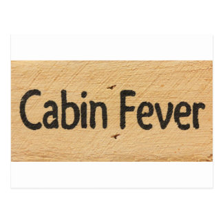 Signe de fièvre de cabine cartes postales