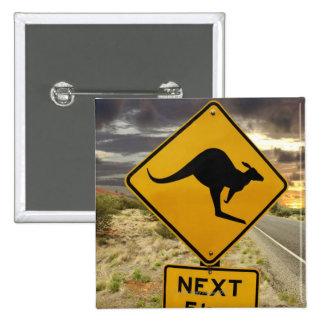 Signe de kangourou, Australie Badges