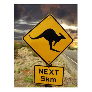 Signe de kangourou, Australie Carte Postale
