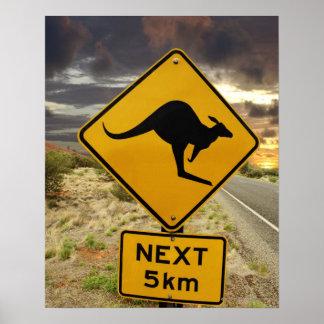 Signe de kangourou, Australie Poster