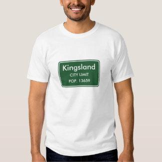 Signe de limite de ville de Kingsland la Géorgie T-shirt