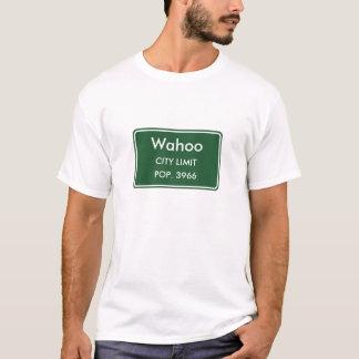 Signe de limite de ville du Nébraska de Wahoo T-shirt