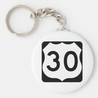 Signe de l'itinéraire 30 des USA Porte-clés