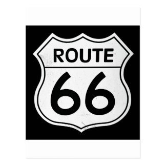 Signe de l'itinéraire 66 carte postale