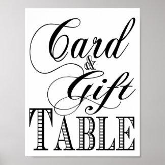 Signe de mariage de cadeau et de Tableau de carte Poster