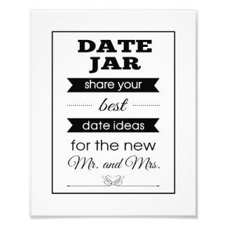 Signe de mariage de pot de date de bannière photographies d'art