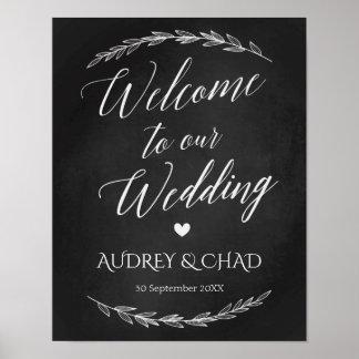 Signe de mariage - signe bienvenu de tableau de