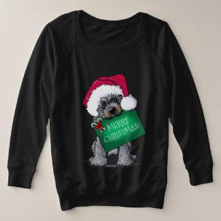 Signe de Noël de chien de griffonnage de KiniArt