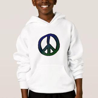Signe de paix bleu et vert