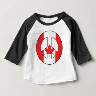 Signe de paix canadien t-shirt pour bébé