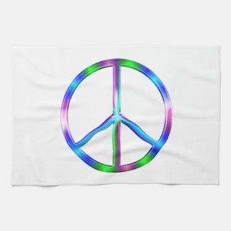Signe de paix coloré brillant serviettes éponge