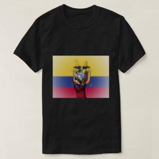 Signe de paix de drapeau de l'Equateur - T-shirt