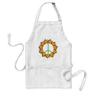 Signe de paix de fleur de Lotus de henné Tablier