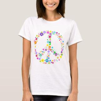 Signe de paix des fleurs t-shirt