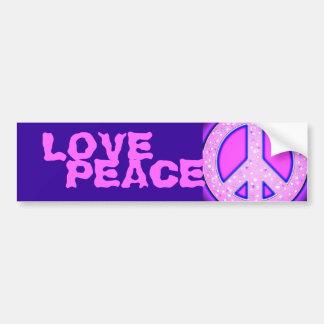 Signe de paix Girly rose avec la lueur au néon Autocollant Pour Voiture