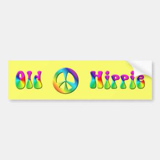 Signe de paix hippie d'arc-en-ciel de KRW vieux Autocollant Pour Voiture
