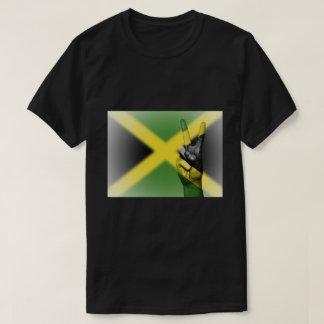 Signe de paix jamaïcain de drapeau - patriotique t-shirt