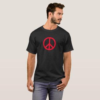 Signe de paix - le T-shirt des hommes, rouge sur