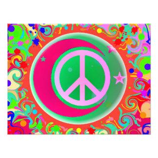 Signe de paix lune étoiles et tout bristol personnalisé