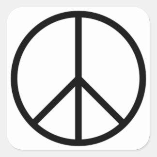 Signe de paix sticker carré