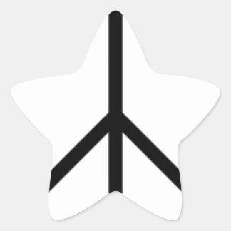 Signe de paix sticker étoile