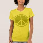 Signe de paix vert Chartreuse classique T-shirt