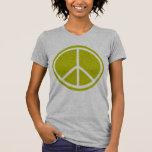 Signe de paix vert Chartreuse classique T-shirts