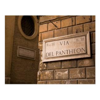 Signe de Panthéon, Rome, Italie Carte Postale