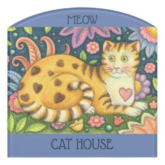 SIGNE de PIÈCE de DÉCOUPE de CAT TIGRÉ d'art
