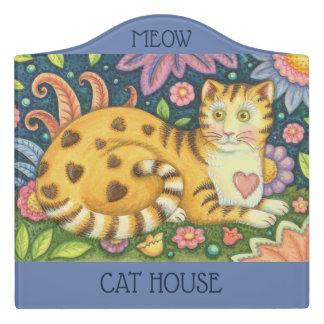 SIGNE de PIÈCE du CREST de CAT TIGRÉ d'art