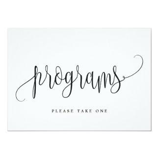 Signe de programmes - belle calligraphie
