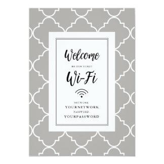 Signe de Quatrefoil Wifi Carton D'invitation 12,7 Cm X 17,78 Cm