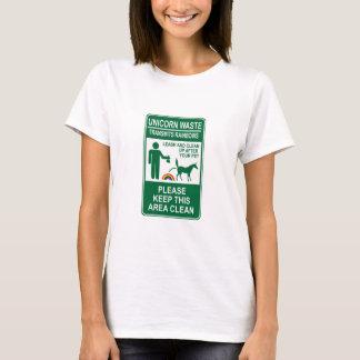 Signe de rebut de licorne t-shirt
