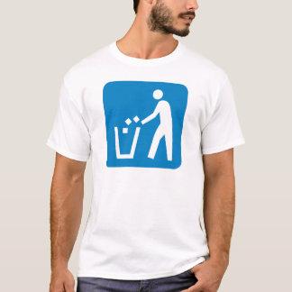 Signe de route de déchets/déchets/ordures t-shirt