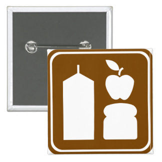 Signe de route d'épicerie badge carré 5 cm